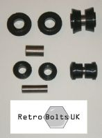 Inner & Outer Track Control Arm (TCA) Black Poly Bushes PAIR - Ford Capri